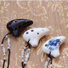 Playable 6 Holes Mini Ocarina Necklace – Trendy Gear