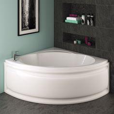 Trojan Laguna Corner Bath 1200 x 1200mm with Panel