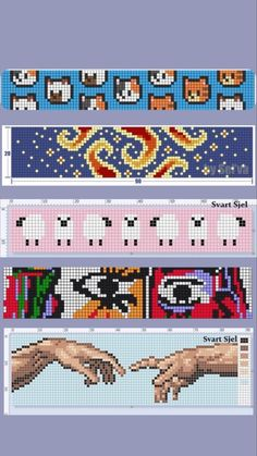 Cross Stitch Art, Cross Stitch Borders, Cross Stitch Designs, Cross Stitching, Cross Stitch Patterns, Diy Perler Beads, Perler Bead Art, Diy Embroidery, Cross Stitch Embroidery