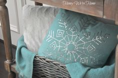 Cozy Turquoise Blanket and Pillow