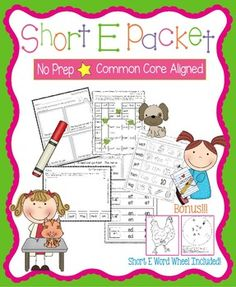 Short E PacketThese worksheets, games, books, and activities will teach the short e sound.  All pages (except for the Go Fish Game) require no prep.  All are engaging for students and make learning to read and spell short e words fun.  Pages Included:*Short E Word Families (practice writing and reading words in the -et, -en, and -ed word families)*The Hen in the Pen - A short e story to illustrate, cut, and staple*Short E Game - Players move their pieces through a game board with short e…