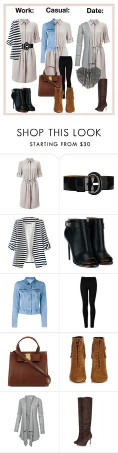 """""""One Dress Three Ways"""" by blue99star on Polyvore featuring Miss Selfridge, Karen Millen, WithChic, Givenchy, Acne Studios, Wolford, Yves Saint Laurent, Fat Face and PARENTESI"""