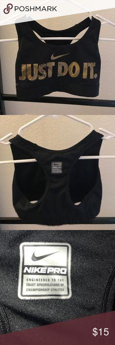 Nike Sports Bra Just do it, dri-fit sports bra. Gently used. Size XS women's. Nike Intimates & Sleepwear Bras