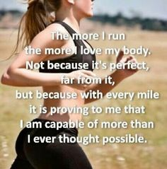 this inspired me to run after i had my knee surgery & was scaried of doing any thing. now i run & i didnt even do that before my accident