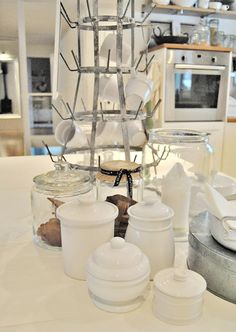 porcelain jars and drying rack!