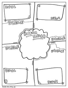 Fun printable, coloring Graphic Organizers at Classroom Doodles from Doodle Art Alley. Free and perfect for all classrooms! Middle School Reading, 4th Grade Reading, 8th Grade Math, Grade Spelling, Math Notebooks, Interactive Notebooks, Reading Strategies, Reading Comprehension, Graphic Organizers