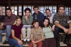 The cast of Freaks and Geeks.  I love this show!  I still watch it on IFC :)