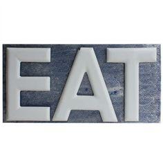 1stdibs.com   1930's Porcelain EAT Sign