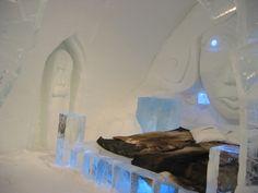 Ice Art Suite at the Ice Hotel  Jukkasjärvi, Sweden - Pic Paul Mannix