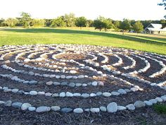 labyrinth - made with field stones
