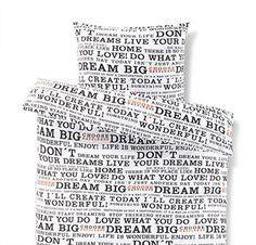 Džersejová posteľná bielizeň, štandardná veľkosť Black N White, Live For Yourself, Dream Big, Personalized Items, Black White, Black And White