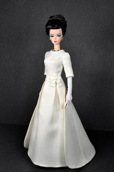 114-1. Jackie O. Ivory Inaugural Gown for Silkstone dolls | by Natalia Sheppard