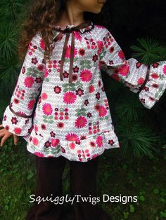 Peasant Top Pattern Girls Free | Pretty Peasant ... by SquigglyTwigs | Sewing Pattern