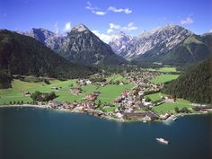 Pertisau, Austria.  Lake Achensee.  The most beautiful place.  This photo does not do the water justice.  It is blue as the sky.