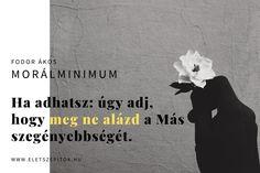 Képes idézetgyűjtemény szómíves érzelmiségieknek Fodor Ákos költő-műfordítótól   Szépítők Magazin Tie Skirt, Haiku, Movie Posters, Diy, Creative, Bricolage, Film Poster, Do It Yourself, Homemade