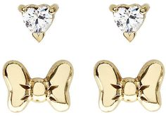 Disney Children's Minnie Mouse Gold Plated Earring Set