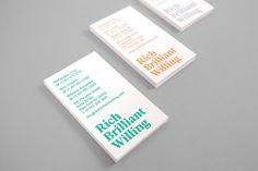 Rich Brilliant Willing business card design