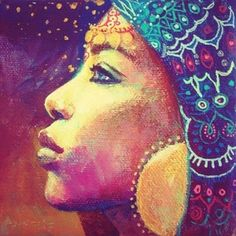 The mystical, fantastical, spiritual art of Annelie Solis. About the artist. Illustrations, Illustration Art, Small Canvas Paintings, Soul Art, People Art, Oeuvre D'art, African Art, Black Art, Painting Inspiration