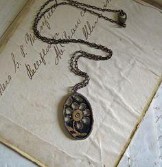 Dark Night Trim Necklace Black Brown by #ThatOldBlueHouse2 on #Etsy #teamvam