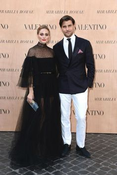 Olivia Palermo in a Valentino total look from the Fall Winter 15/16 collection to the Mirabilia Romae Haute Couture Show, on July 9th 2015.