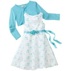 Youngland Girls 2-6X Embroidery Sleeveless Dress With Long Sleeve Shrug $24.00 - $26.40