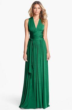 Halston Heritage Crisscross Detail Jersey Maxi | Nordstrom. Goddess dress! #veganfashion