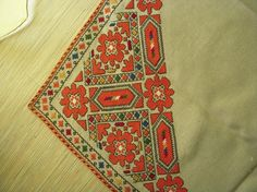 Handmade embroidered stole by BulgarianEmbroidery on Etsy