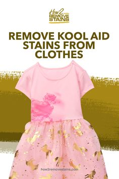 Kool-Aid has been around for many years and has been the main culprit for stains not just on children's clothes but also among adults. The main offender Kool Aid Dye, Stain On Clothes, Color Your Hair, Dishwasher Detergent, Hair Conditioner, Hair Hacks, Remove Stains, Children, Young Children