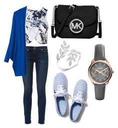 """""""Untitled #15"""" by krishnabhagat ❤ liked on Polyvore featuring Topshop, rag & bone, MANGO, Keds, MICHAEL Michael Kors and FOSSIL"""