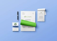 Letterhead, business cards and stationery for Accounting Plus | Hoot Design Co.