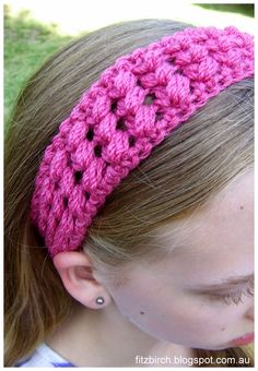 Criss Cross Puff Crochet Headband.  The perfect hour long crochet project!