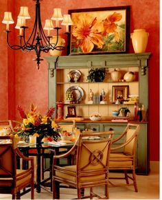 View To The Dining Room Continuous Hardwood Flooring Brings A