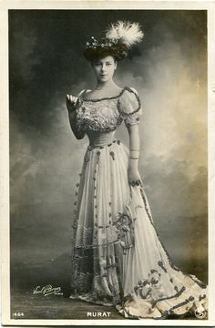 Vintage French RPPC Postcard Actress Stage Star Miss Murat Glittered | eBay