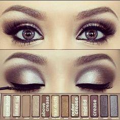 Bronze Eye Makeup                                                         really great makeup ...try it  :) #eyemakeupsmokey