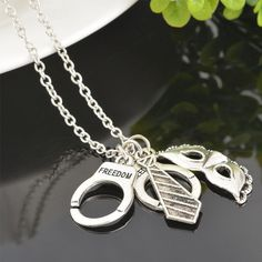50 Shades of Grey Freedom Handcuffs Mask Tie Necklace Retro