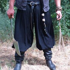 Pirate Harem Pants SCA Renaissance Medieval Pagan by meankittywear