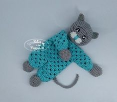 This is a pdf tutorial (not the finished creation)the lovey measures about 8 - 9 inchesTutorial created in june 2019 by can sell the finished character by indicating the provenance of the tutorialPlease do not translate, modify, distribu Chat Crochet, Crochet Lovey, Quick Crochet, Crochet Amigurumi, Baby Blanket Crochet, Crochet For Kids, Free Crochet, Crochet Toys Patterns, Amigurumi Patterns