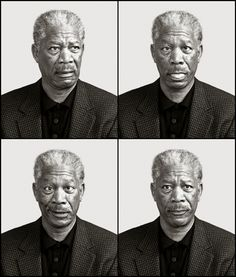 Morgan Freeman; The Goofy Side of Celebrities in these Amazing Portraits