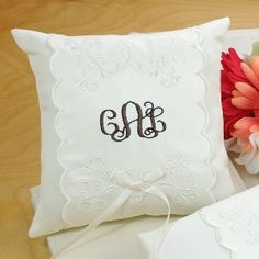 Monogram Ring Pillow ($26)