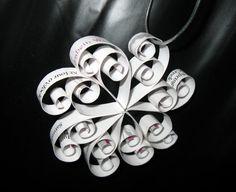 Wedding Invitation Snowflake Ornament  First by MySuspendedMoments, $17.00