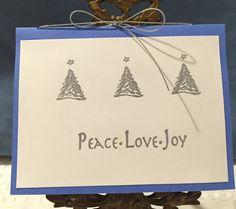 Peach-Love-Joy Holiday Christmas Card by CraftyCardandWreaths on Etsy