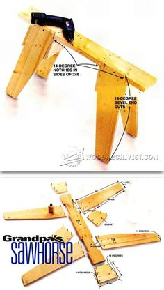 DIY Sawhorse - Workshop Solutions Plans, Tips and Tricks | WoodArchivist.com