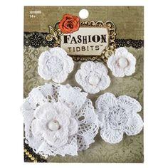 Ivory Crochet Flower Accessory Set
