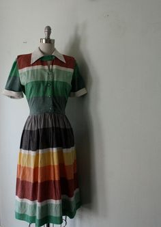 // 1950s sunset color block dress from my new post for the ETSY BLOG: http://www.etsy.com/blog/en/2012/storyboard-cat-lady/