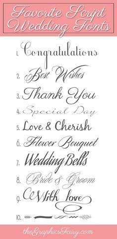 Favorite Script Wedding Fonts-The Graphics Fairy
