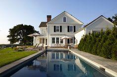 White Black House Whitewashed Cottage chippy shabby chic French country rustic swedish decor idea