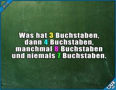Ist es ein Rätsel? :P (Das sind einfach nur die Anzahl der Buchstaben von den Wörtern davor. Deshalb auch am Ende kein Fragezeichen ^^/) #lustige #Rätsel #verarschen #Verarschung #reinlegen #Humor #Schule