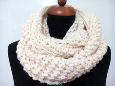 White ice crochet scarf neck warmer white double wrap