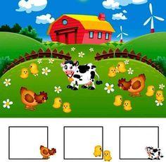 Farm Animals, Animals And Pets, Math Concepts, Teaching Materials, Teaching Math, Kids Learning, Preschool, Photo Wall, Community