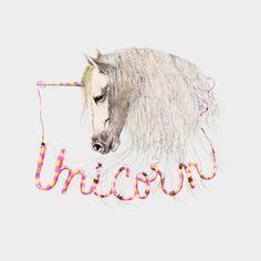 Pink Unicorn Art Print